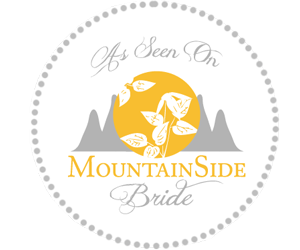 as seen on mountainside bride