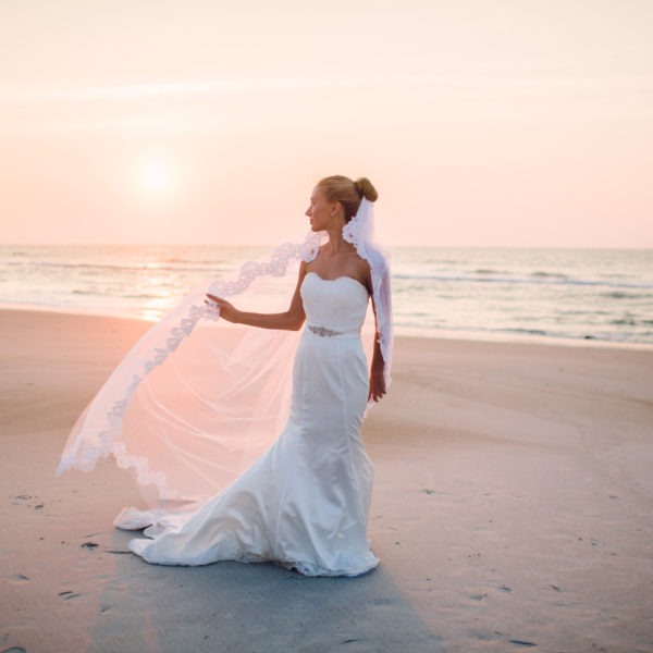 Topsail Island Sunrise Bridal Session