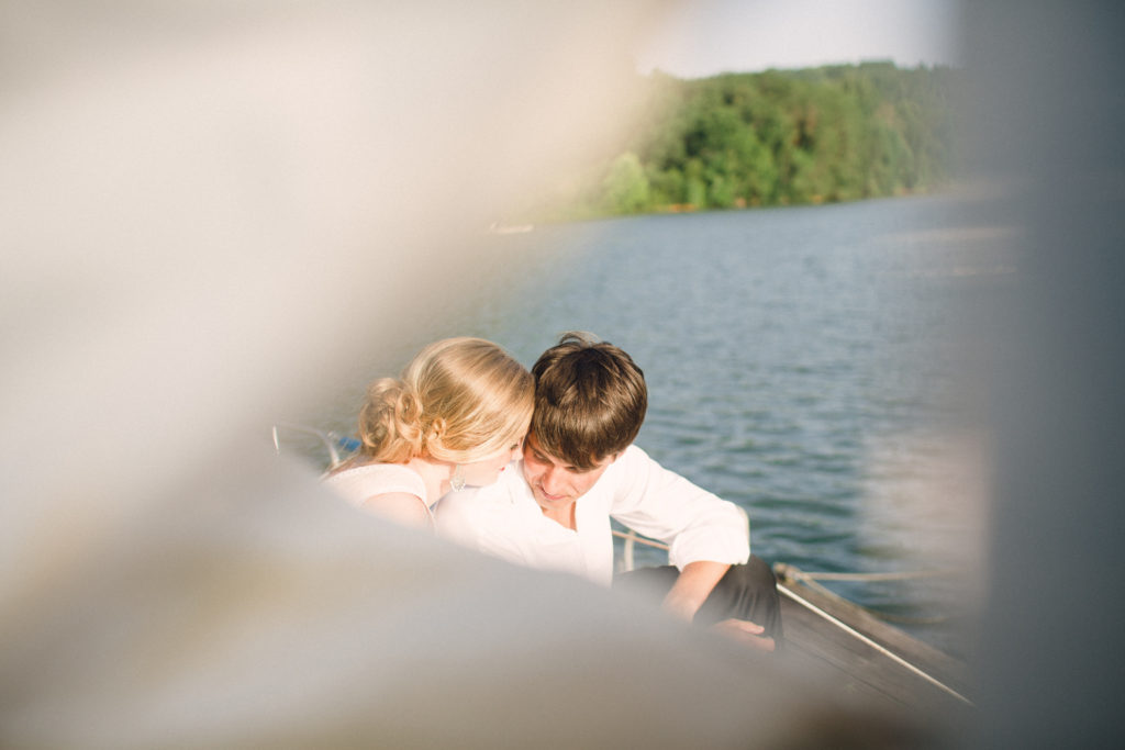 married couple on a sailboaon Watts Bar Lake Kingston, TN