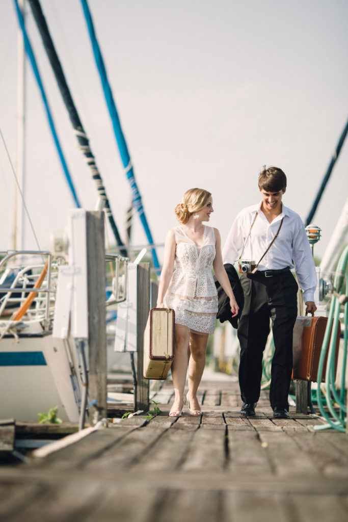 honeymoon sailboat shoot at Blue Springs Marina, Knoxville Tennessee