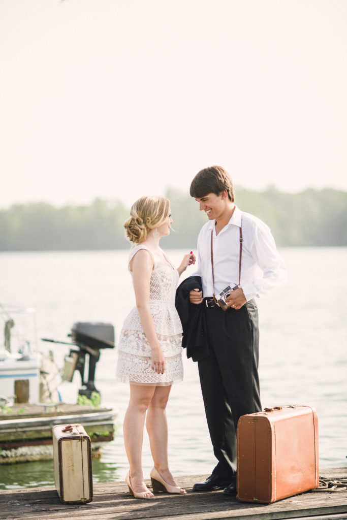 married couple on a sailboat at blue springs marina, Knoxville, tennessee