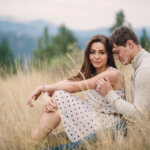Engaged couple in Mount Helena City Park