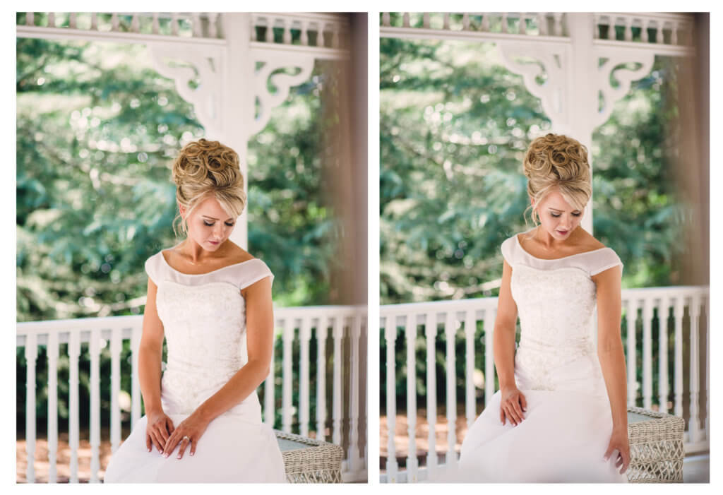 Bride at The Gardens at Gray Gables in Summerfield NC