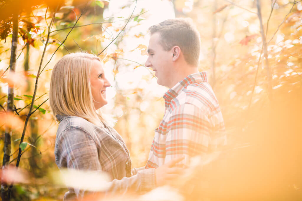 Engaged Couple at Estate Of Grace Farm in Knoxville TN