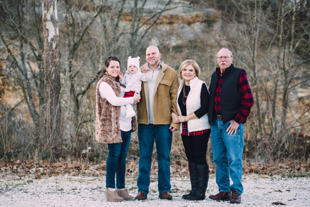 Family having a family photo session at Meads Quarry in Knoxville, TN
