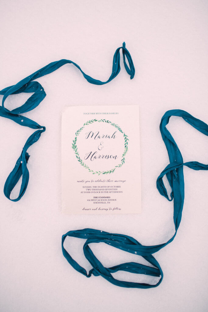 Wedding invitation at Bleak House Knoxville Tn