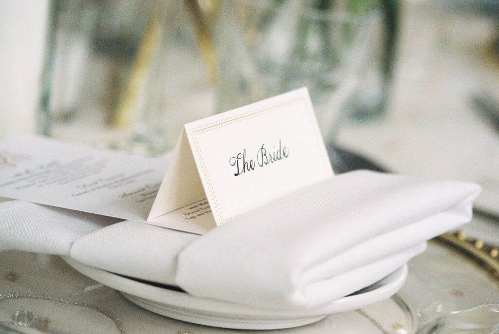 Place setting at Bride at Spring House Restaurant Kitchen & Bar