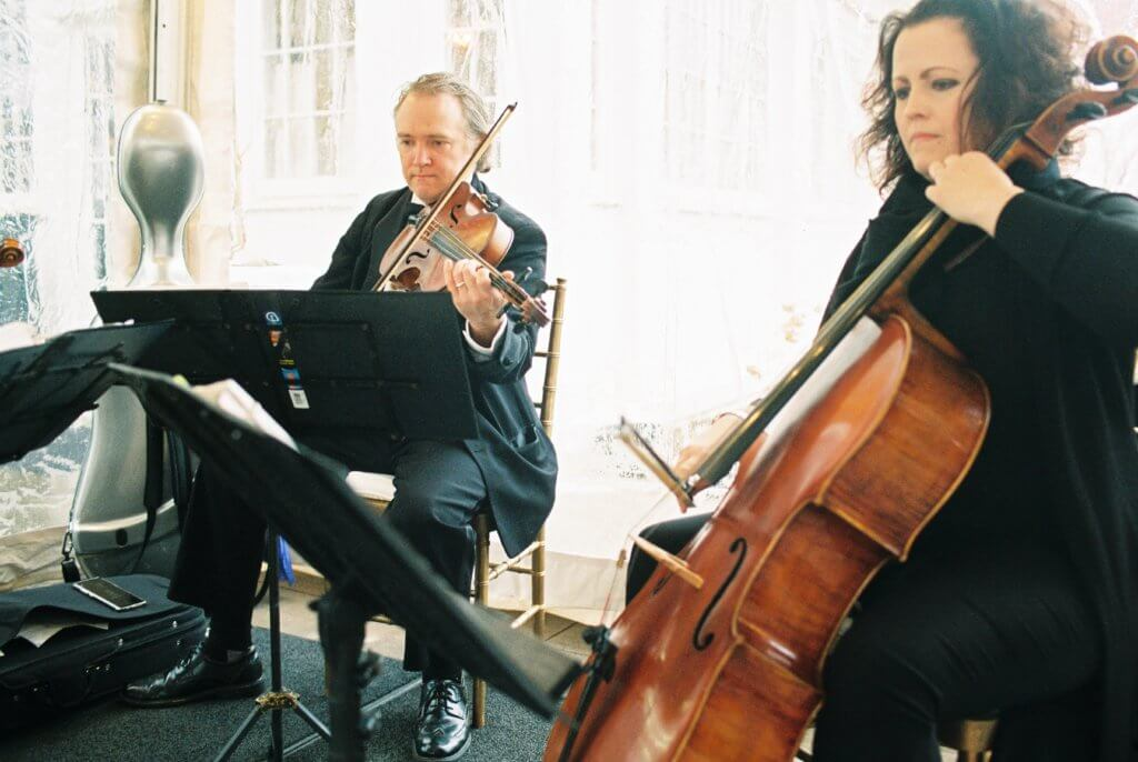 Classical musicians at Bride at Spring House Restaurant Kitchen & Bar