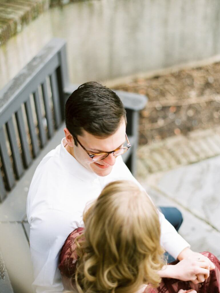 Engaged Couple at The Barn at Reynolda Village