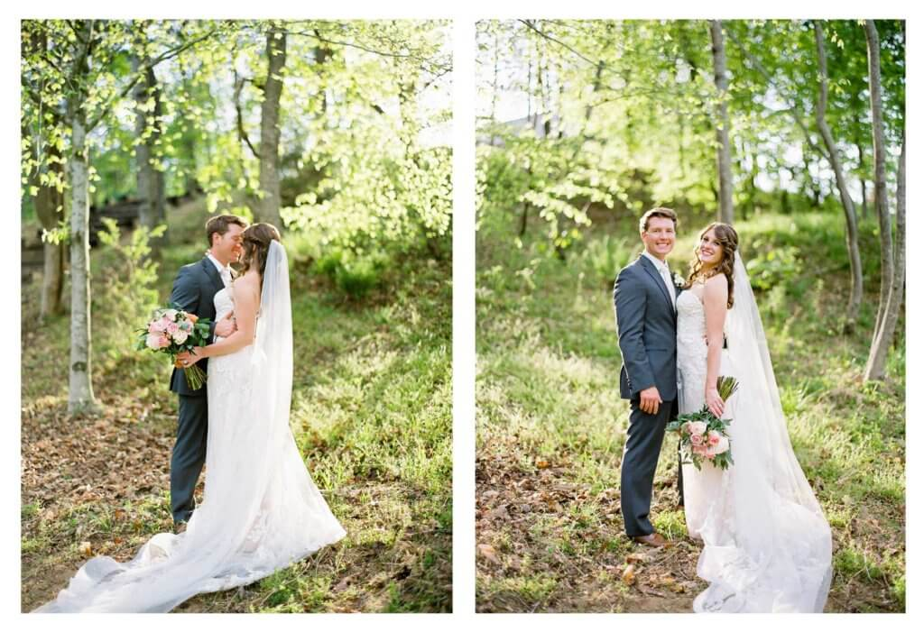 Bride and Groom in Pilot Mountain NC