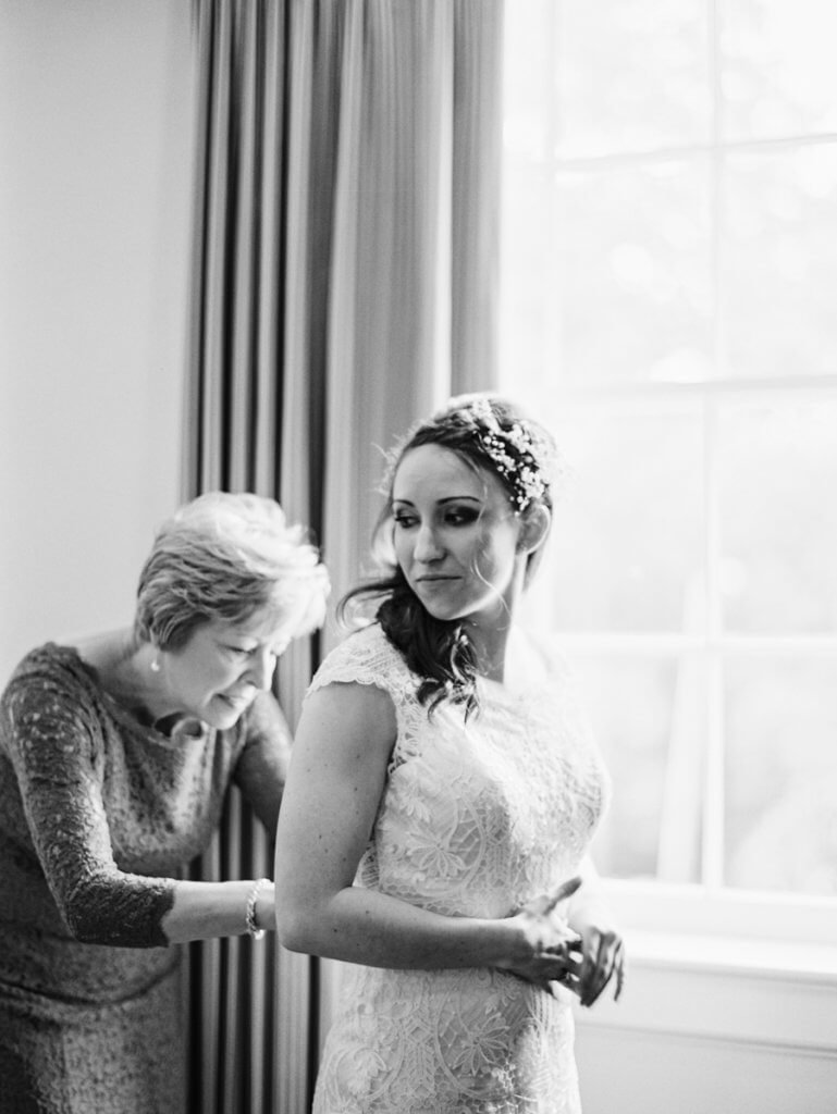 Bride and mother at Starmount Presbyterian Church in Greensboro nc