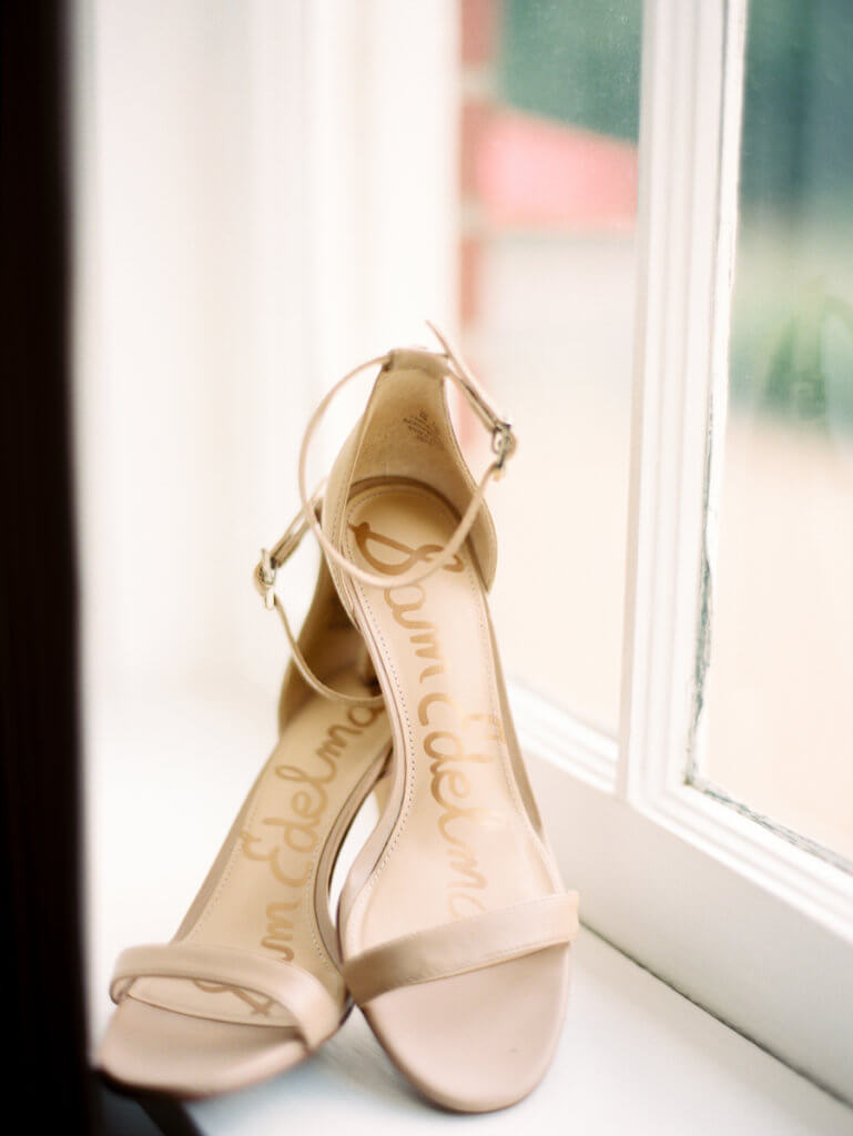 Wedding Shoes at Starmount Presbyterian Church Greensboro NC