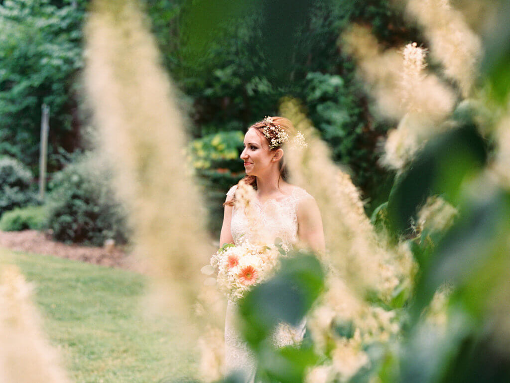 Bride at the Greensboro Arboretum