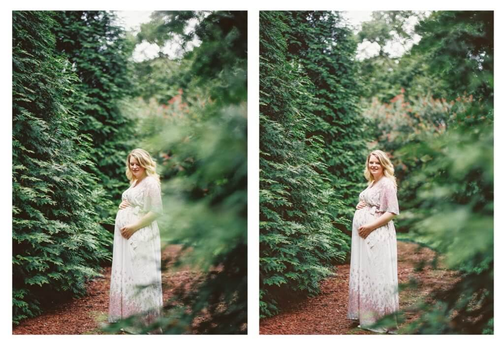 pregnant woman at The Gardens at Gray Gables