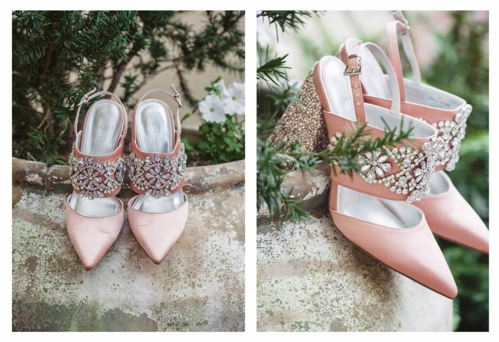 Brides shoes at villa de l'amour in high point nc