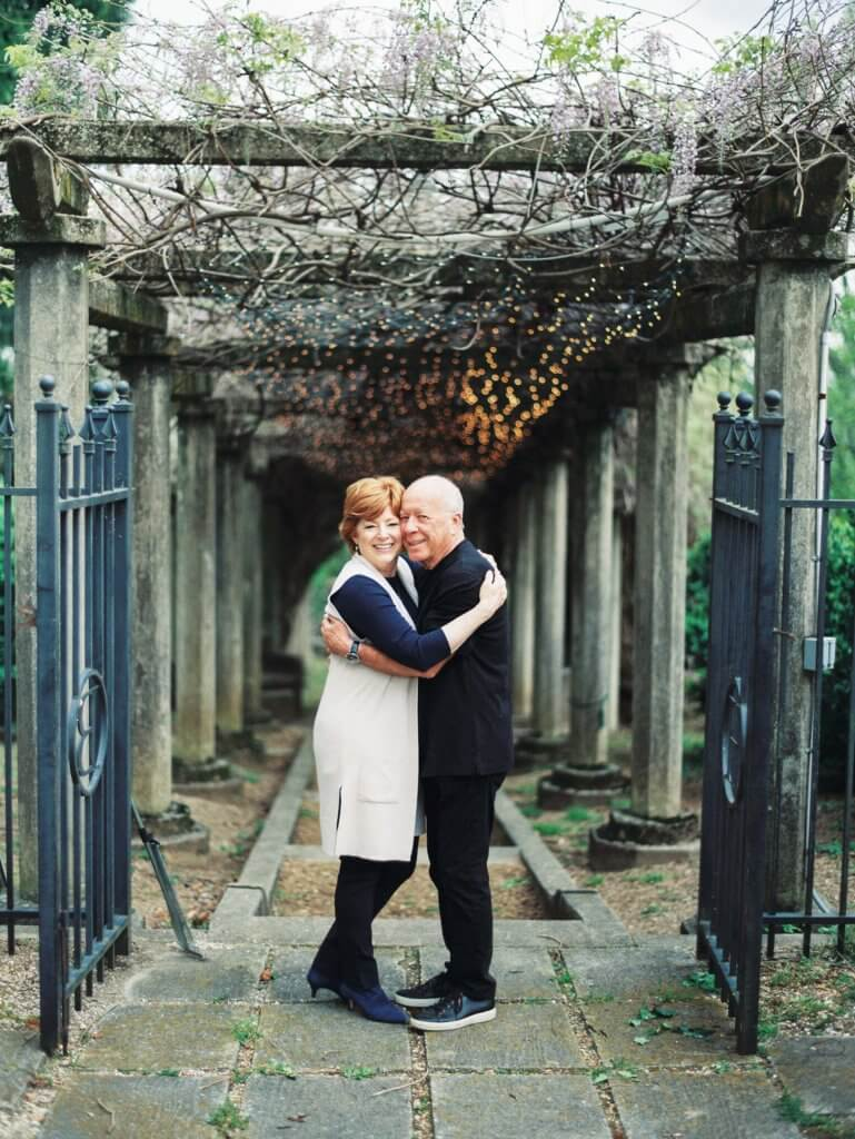 Engaged couple at The Bleak House Knoxville Tn