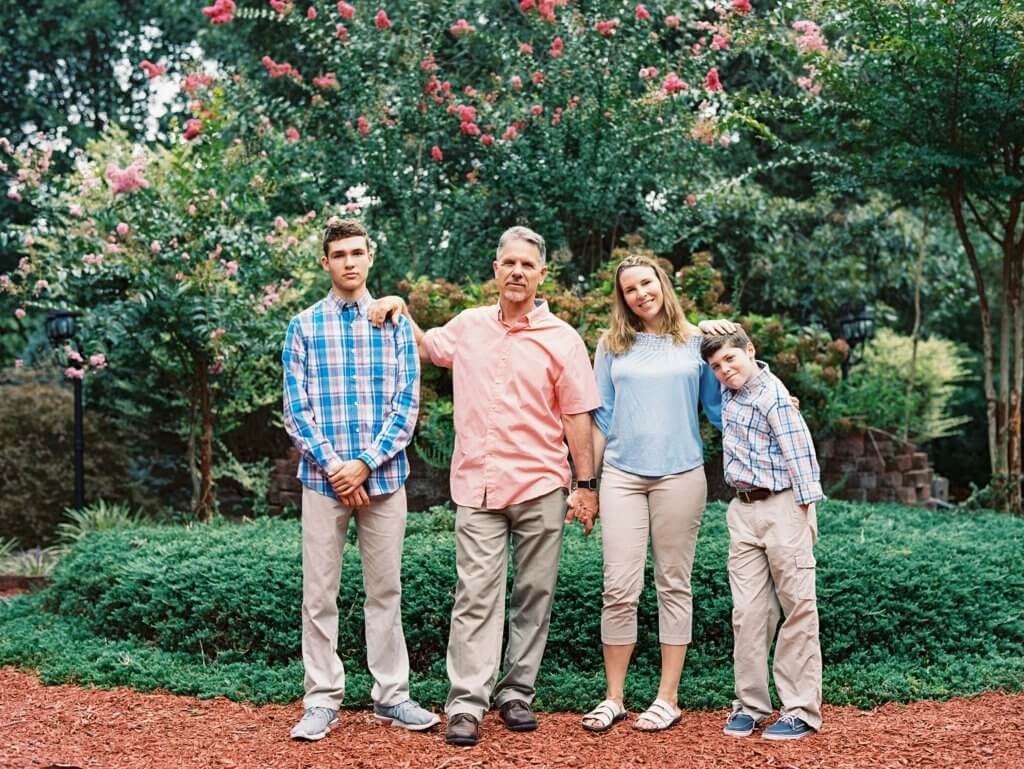 Family Photos at The Gardens at Gray Gables Summerfield nc
