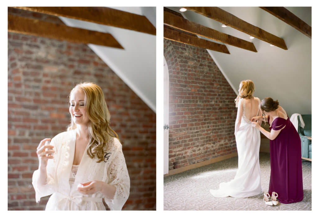 Bride at The Barn At Reynolda Village