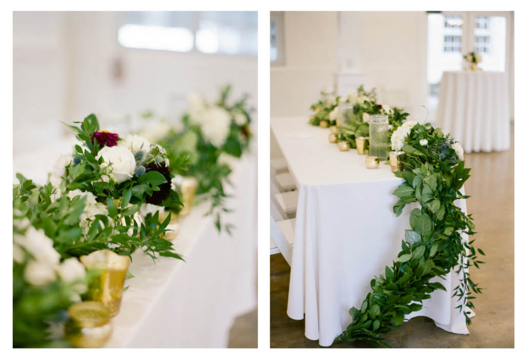 Wedding gFloral at The Barn At Reynolda Village