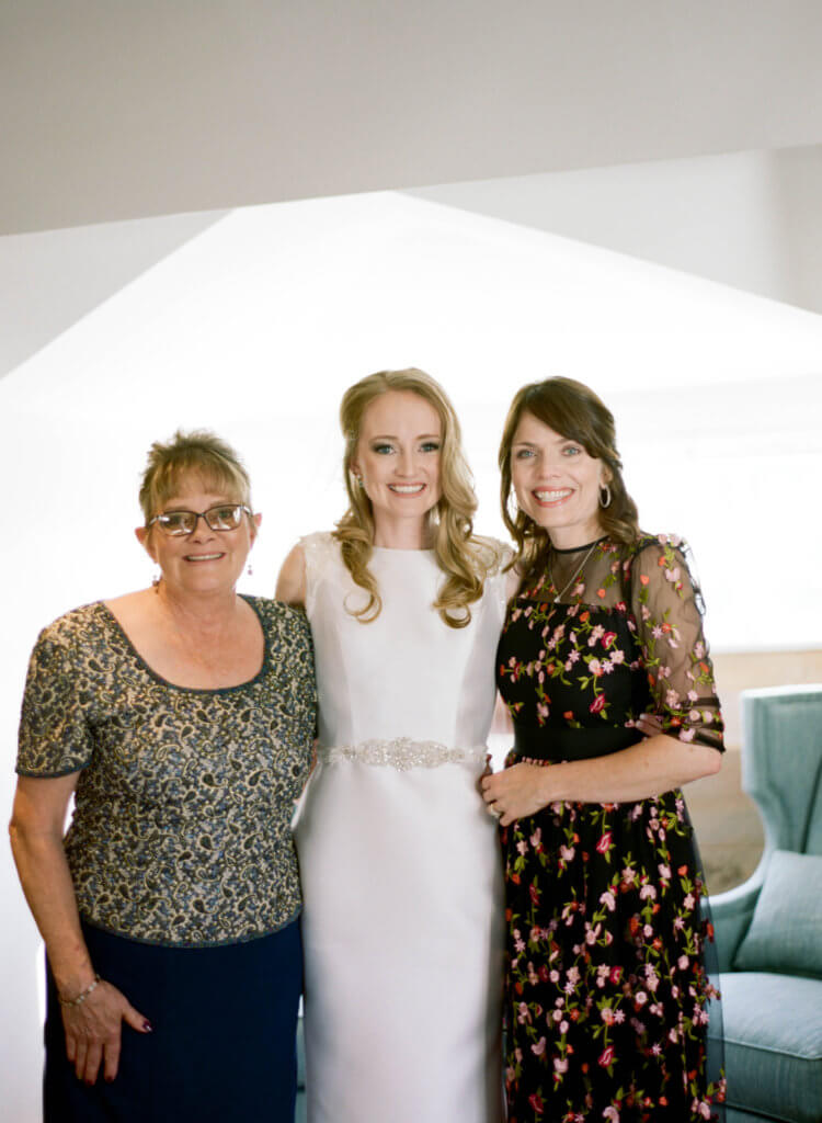 Mothers and bride at The Barn At Reynolda Village