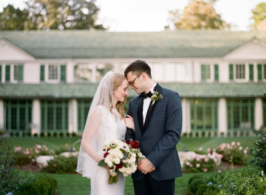 Bride and Groom at Reynolda House