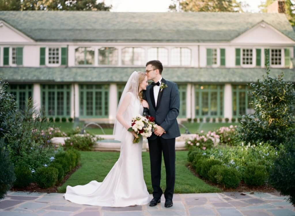 Bride and Groom at Reynolda House Museum