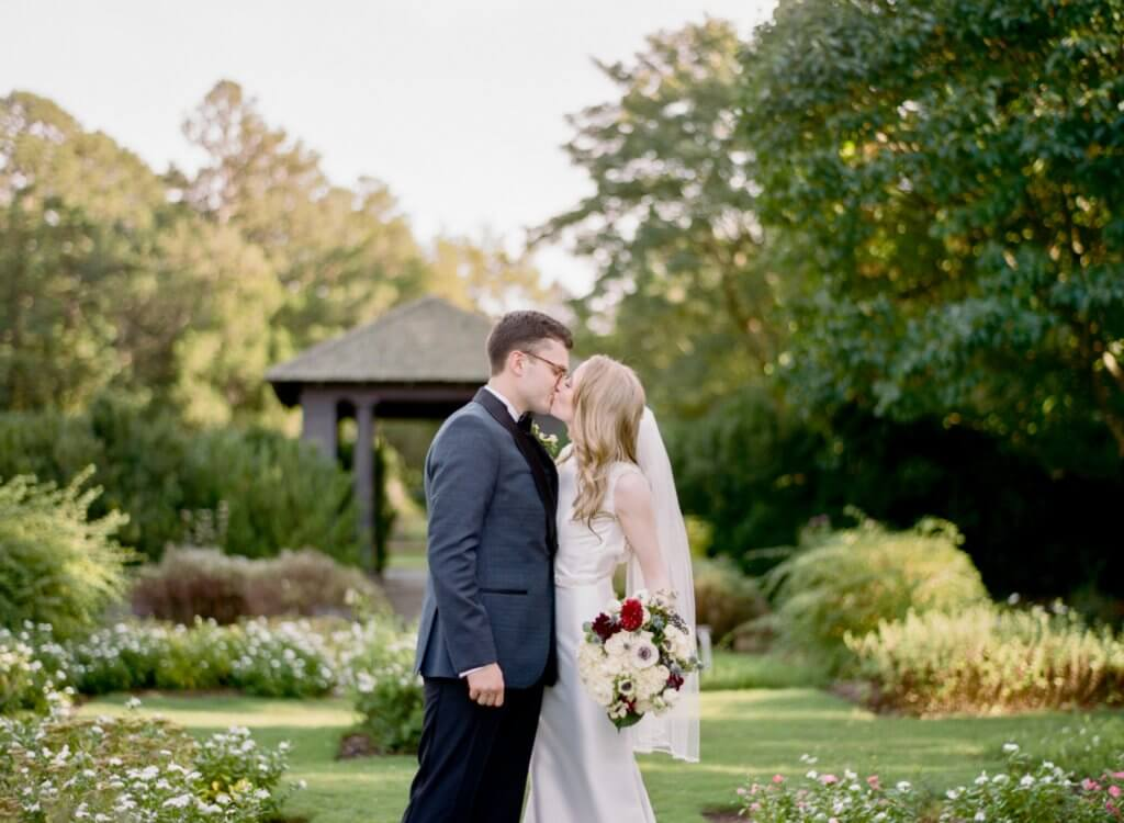 Bride And Groom at Reynolda Gardens