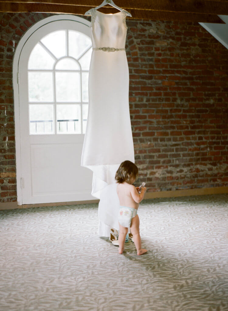 Wedding Dress at The Barn At Reynolda Village