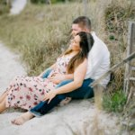 Topsail Island Engagement Photographer captures engaged couple on the beach