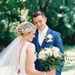 Bride and Groom in Knoxville Tennessee
