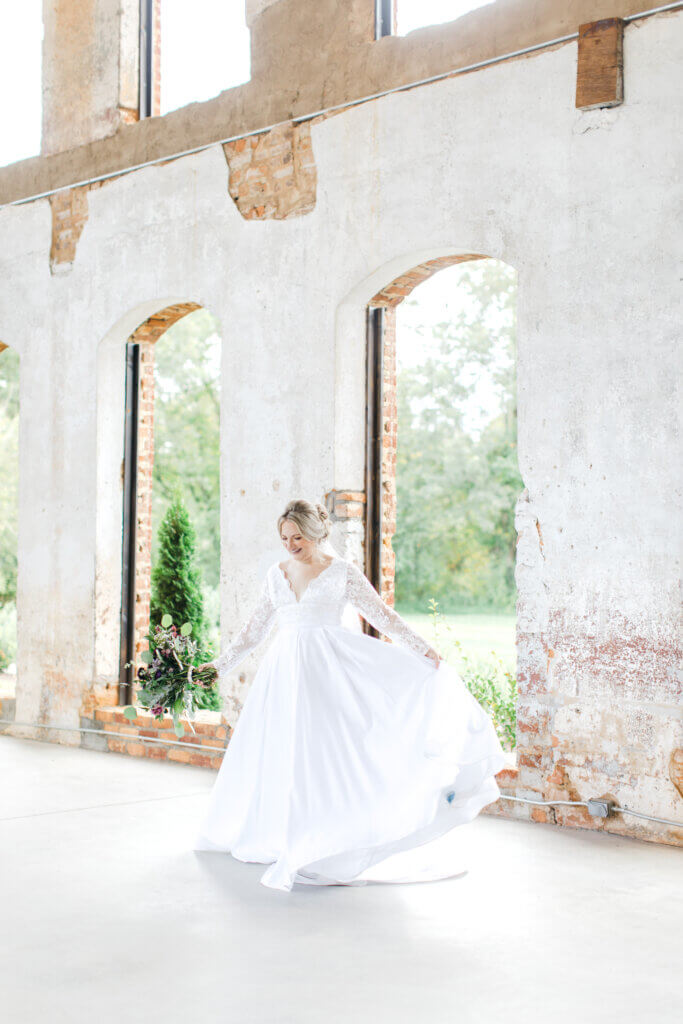 Bride at Providence Cotton Mill